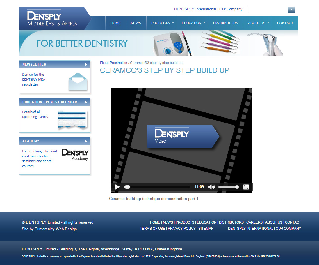 Dentsply site built with Drupal