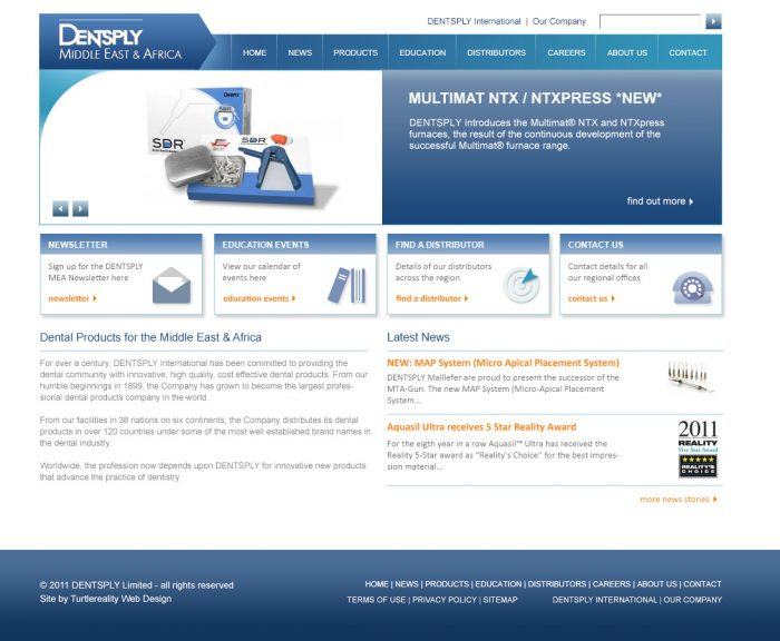 Drupal web development - Dentsply Drupal 6 Design