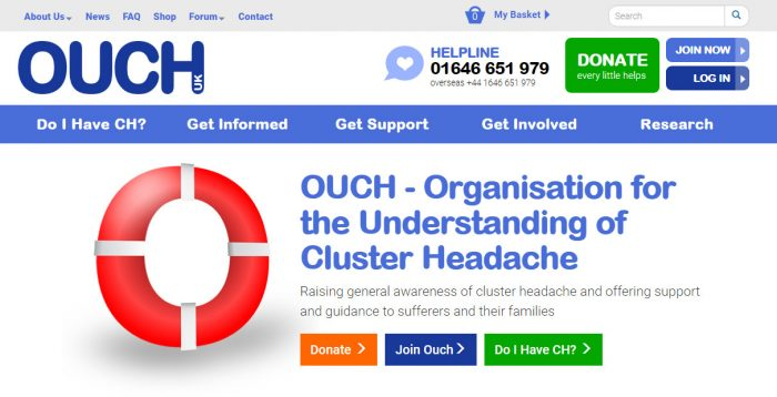 Charity Web Design for OUCH(uk)