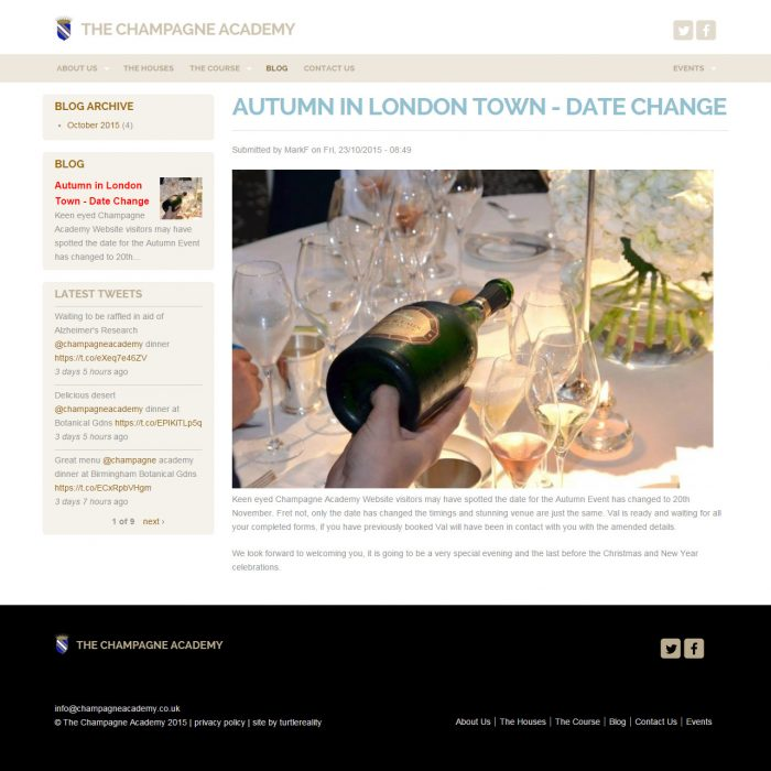 New Design for The Champagne Academy Blog