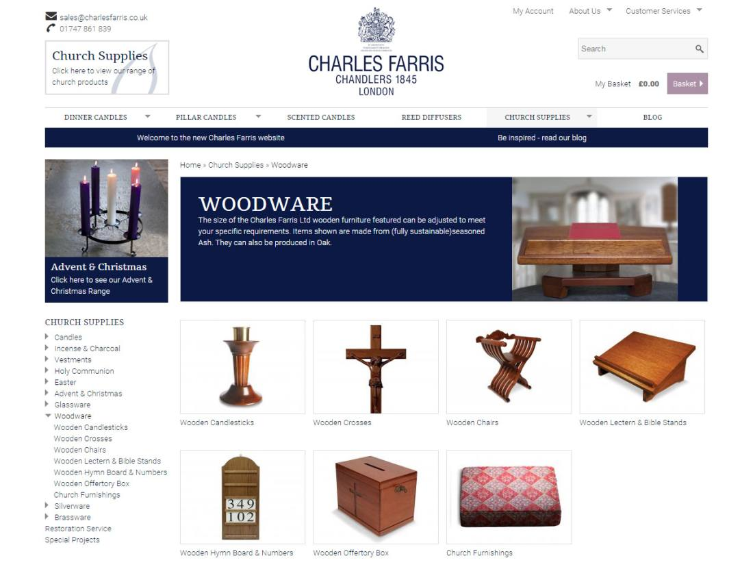 ecommerce website for wiltshire company