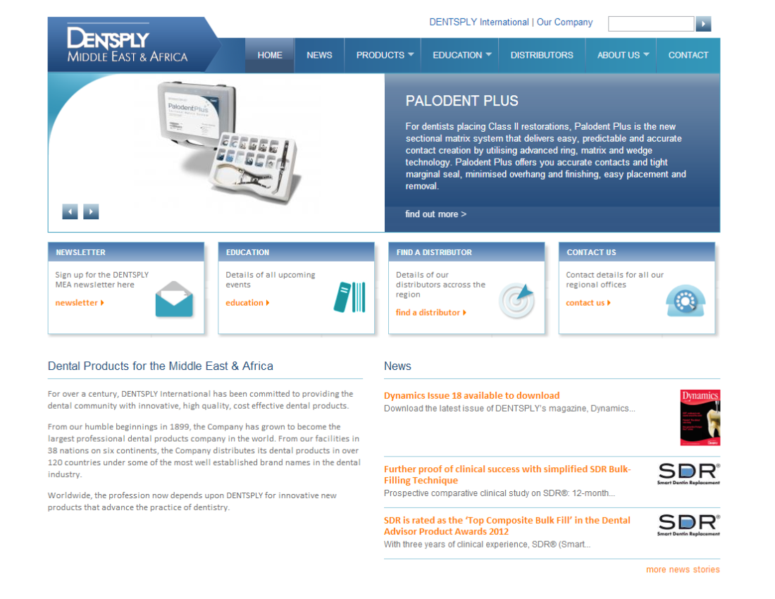 Dentsply MEA - export site for Middle East & Africa