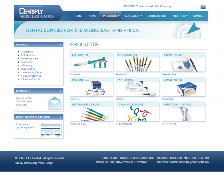 Product catalogue site for Surrey based b2b supplier