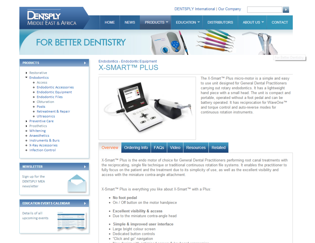 Product site for Surrey based Worldwide dental supplier