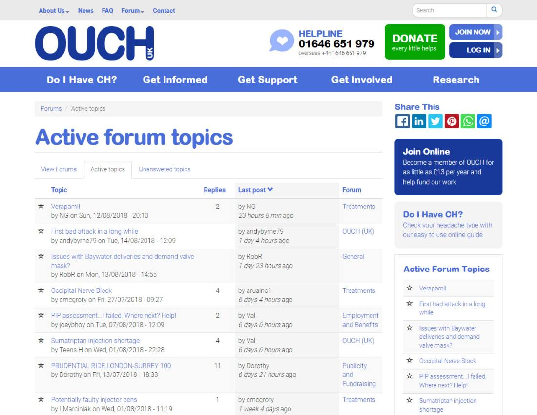 Forum - CiviCRM & Drupal site for UK charity