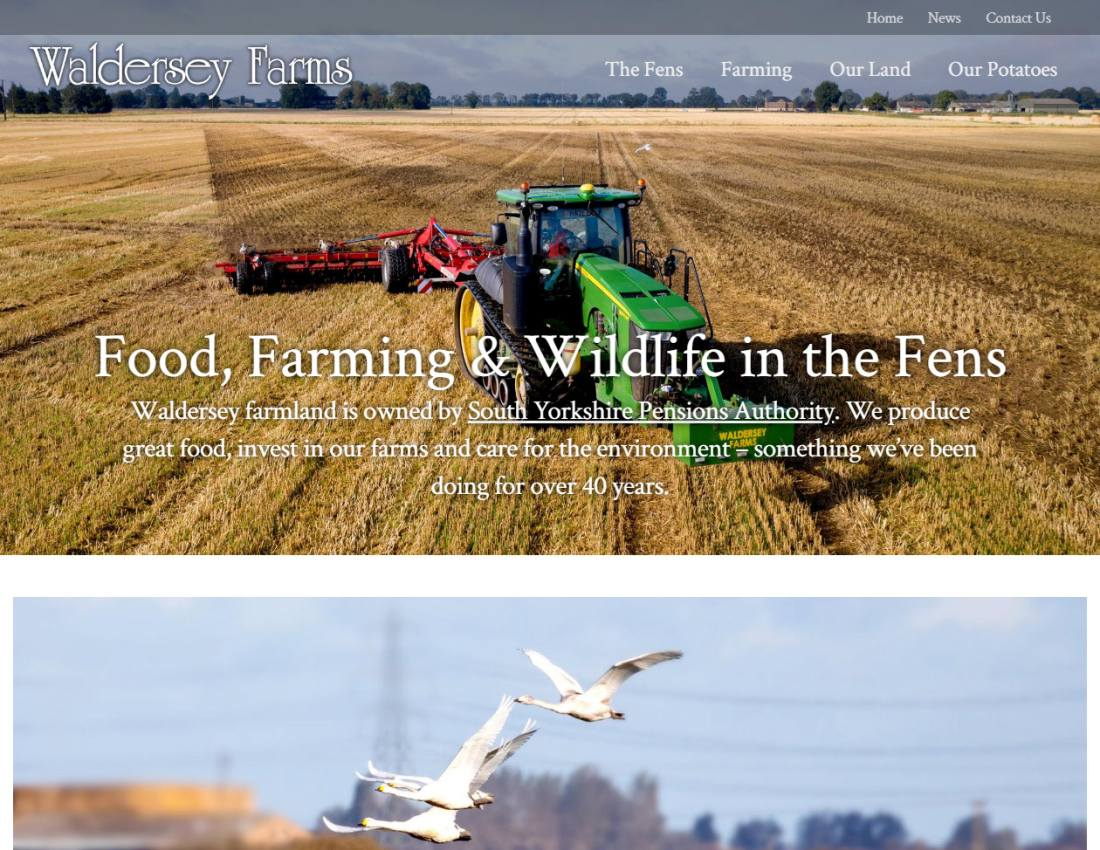 Responsive website for large farming company